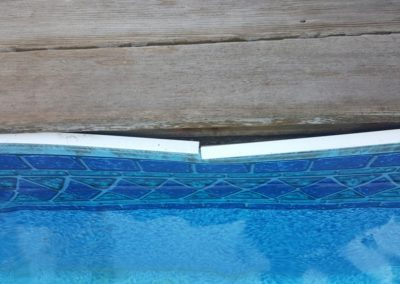 Damage to pool liner