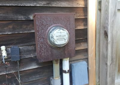 Rusted electric meter box