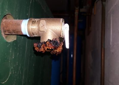 Home Inspection Services Of a Safety Pressure Valve Which Is Leaking For a Long Time